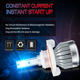 H13 9008 Ice Blue 8000K LED Headlight Bulb Conversion Kit High Low Beam, 6000LM Super Bright Fog Light Replacement