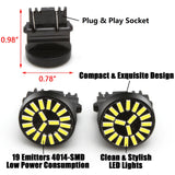 White 4014 SMD LED Backup Reverse Light Bulbs for GMC Sierra 1500 2500 3500 HD 1999-2014