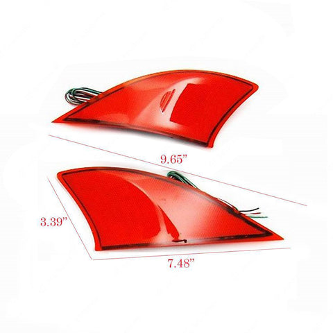 2x Red Lens Rear Bumper Tail Reflector Brake Fog Lights For 2014-up Lexus IS250 IS350