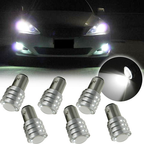 6pcs White CREE 1157 1157 2057 2357 2357A Tail Brake Turn Signal Bulbs Lights