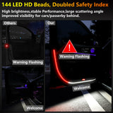 Interior Car Door LED Opening Welcome Strip Lights 2pcs Used for Lighting Decoration Warning Anti Rear-end Collision