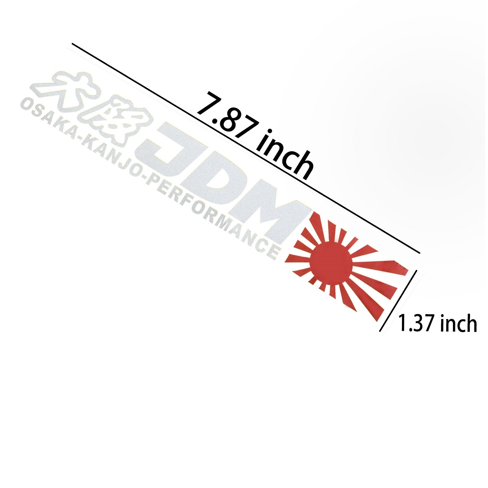 OSAKA-KANJO-PERFORMANCE Letter Decal Rising Sun JDM