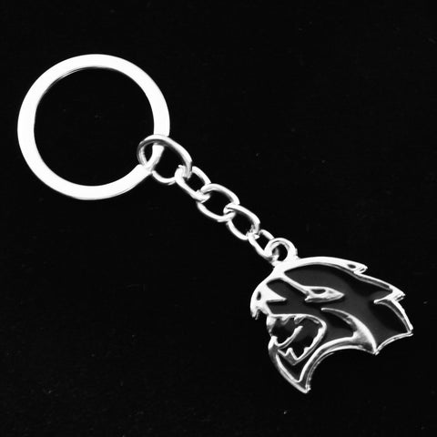 Xotic Tech 3D Hellcat Hell Cat Keychain Key Chain Fob Ring for Dodge Challenger Charger