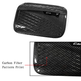Carbon Fiber Style Sport Gas Tank Cap Cover Fuel Filler Cap Trim for Toyota Camry 2018 2019 2020
