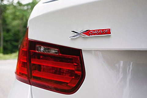 1x Red/Black X Drive Car Trunk Lid Fender Body Emblem Sticker For BMW X1 X3 X5 X6 (Black/Red)