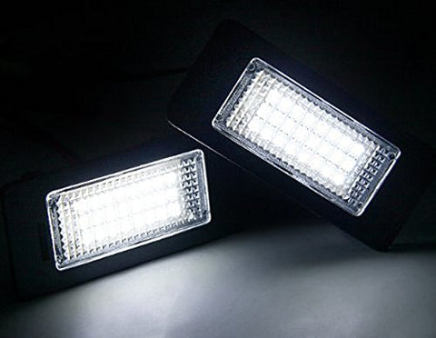 Direct Replace Error Free 24-LED License Plate Lamps For BMW E90 E92 E60 E70