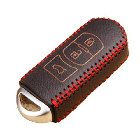 Genuine Leather Carbon Fiber Pattern Key Folding Fob Key Cover Audi Volkswagen Mazda Mercedes-Benz Nissan/Infiniti Kia/Hyundai