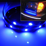 "2x Blue 12"" Ultra Thin Flexible Waterproof Door Foot 15-SMD LED Strip Lights"