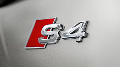 Red S4 Logo Sport Chrome Badge Emblem For Audi S S4 S5 S6 S8 A4 A6 A8 TT R8 Quattro