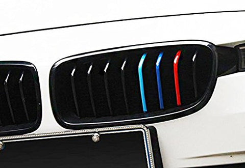 "1 Set 9.8"" Germany Flag or M-Colored Union Jack UK Flag Stripe Sticker Fit BMW Exterior or Interior Decoration Grille Fender Hood Side Skirt Bumper Side Mirror Dashboard"