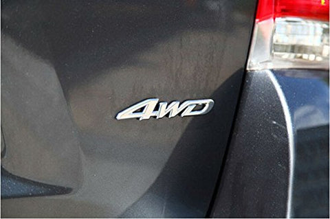 4WD Car Chrome Sticker Badge Emblem For All Wheel Drive Off Road SUV Auto