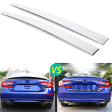 Chrome Silver Stainless Steel Rear Trunk Lid Cover Trim for Honda Accord 10th 2018