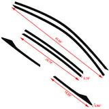 6pcs for Honda Civic 10th 2016-2018 Window Edge Pre-cut Vinyl Sticker Trim, Matte Black Car Window Frame Wrap Overlay Decal, Window Side Sticker Molding