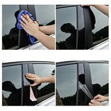 Pillar Post Trim Black for Toyota Corolla 2009 2010 2011 2012 2013, 6pcs Car Door Window Pillar Post Cover Molding Kit