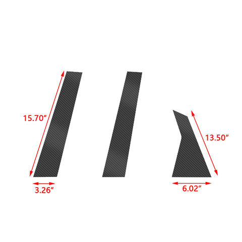 Carbon Fiber Pattern Car Window Pillar Post Trim Sticker for Honda Accord Sedan 2018 2019 2020