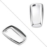 For BMW Key Fob Cover, Smart Remote Key Shell Case Holder Protector Compatible With BMW 1 3 4 5 6 X3 M6 GT3 GT5 Series, Silver