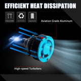 8000K Ice Blue LED Headlight Bulb All-in-One Conversion High Low Beam Kit, 6000LM Super Bright Fog Light Replacement