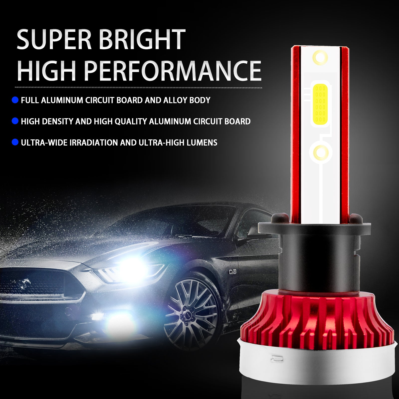 6000lm Led Headlight Bulbs High Beam White 6000k Super Bright For Acur Xotic Tech