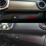 One Set Dashboard Glove Box Letter Inserts Decal Sticker for Toyota Tacoma 2016-2019, Glossy Red