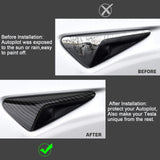 for Tesla Model 3 X S Autopilot Side Marker Turn Signal Cover Trim ABS Carbon Fiber, Turn Signal Indicator Side Marker Camera Cap Cover for Tesla Model 3 X S 2017-2019