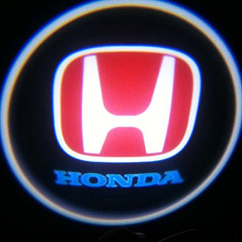Honda LED Car Door Welcome Logo Ghost Shadow Projector Lights Courtesy Lights Reflect Logo on the Floor