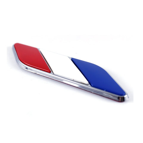 2x Nation Flag Emblem Chrome Badge Stickers for Car Side Door Fender