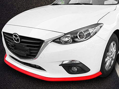 1x Front Bumper Lip Universal Splitter Chin Spoiler Racing Sporty Body Kit Trim (8ft)