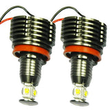 40W 7000K White BMW H8 LED Angel Eyes Ring Marker Bulbs For 1 3 5 X Series