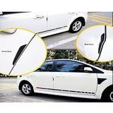 4 Pieces JDM Red Silicone Anti-Rub Car Door Edge Guard / Rear View Mirror Protector Stickers