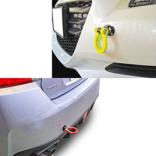 1 Set JDM Red/ Neo Track Racing Style Aluminum Tow Hook