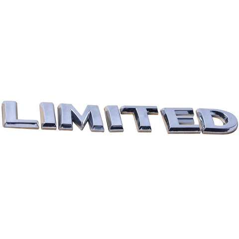 3D Logo LIMITED Chrome Emblem Fender For Toyota Ford Jeep Grand Cherokee Wrangler Compass Trunk Lids, Side Fenders, Hood, Door