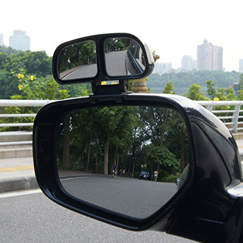Blind Spot Mirror, 2 Pcs Square Stick On Rear View Convex Side Wide Angle with DUAL Adjustable Mirrors For Car Truck SUVs Motorcycle
