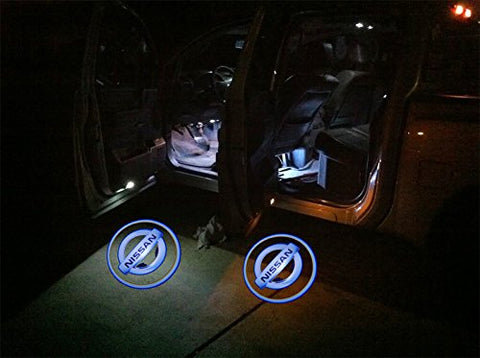 Nissan Laser LED Car Door Welcome Logo Ghost Shadow Projector Lights Courtesy