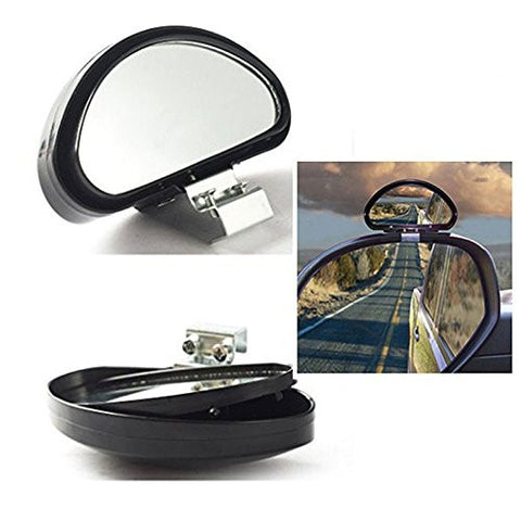 Blind Spot Mirror, 2 Pcs Convex Clip On Half Oval Rear View Conter Blind Spot Angle Auxiliary Mirrors For Car Truck SUVs Motorcycle