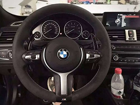 Real Carbon Fiber Steering Wheel DSG Paddle Shifter Extension for BMW M Seiries M3 M4 M5 M6 X5M X6M