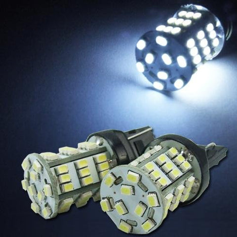 White 7440/7443 T20 990 991 54-SMD LED Bulbs For Car Turn Signal, Parking, Backup Lights