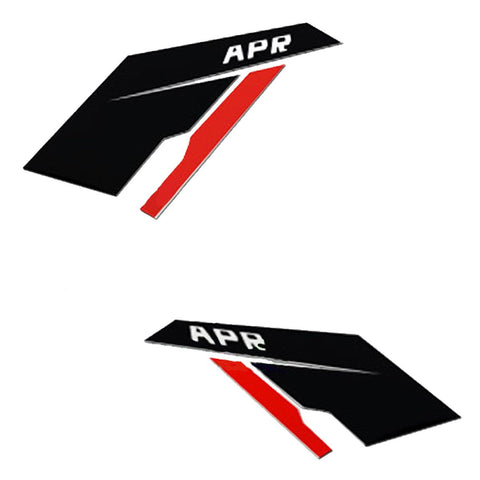 APR Car Side Fender Scuttles Silver Vinyl Sticker Decals for VW Audi Porsche BMW