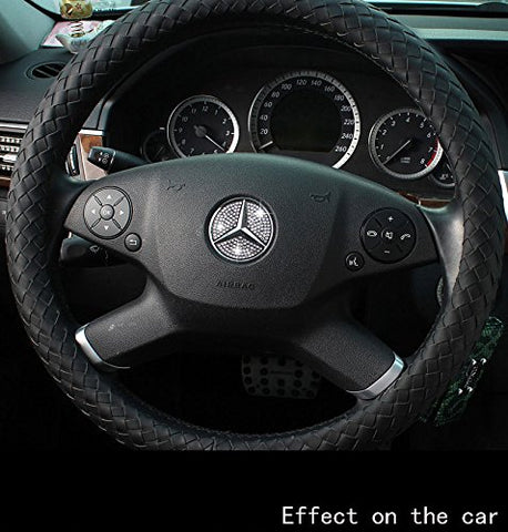 Steering Wheel Center Logo Diamond Emblem Sticker Decoration Direct Fit Mercedes Benz (44mm/49mm)