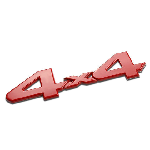 3D Logo 4x4 Metal Chrome Emblem Fender For Car Trunk Lids, Fenders, Doors, Etc [Red/Silver/Black]