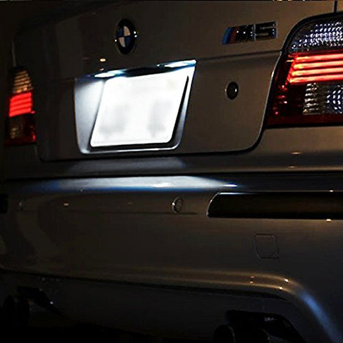 2x Error Free White LED License Plate Lights Lamp For BMW 1 6 Series Z4 MINI