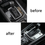 Stainless Steel Car Gear Shift Knob Console Panel Trim Frame Cover for Mazda CX-5 CX5 2017 2018