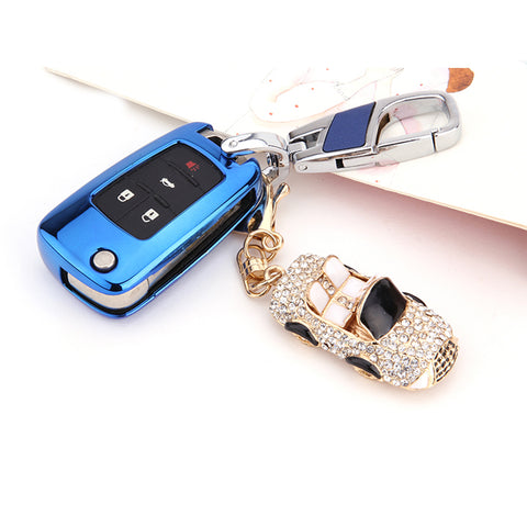 Smart Remote Key Soft Fob Cover Case For Chevy Chevrolet Cruze Malibu[Black\Blue\Red\Rose Gold\Silver]