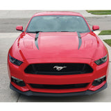 Xotic Tech Hood Spear Side Stripe Decal Sticker for Ford Mustang 2015 2016 2017 Glossy Black