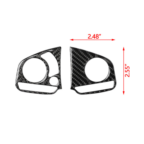 Carbon Fiber Steering Wheel Button Frame Cover Trim Media Panel Sticker Decoration for Honda Civic 10th Gen 2016 2017 2018 2019