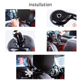 Universal Car Seat Headrest Mickey Mouse Holder Hanger Hook for Hanging Bag