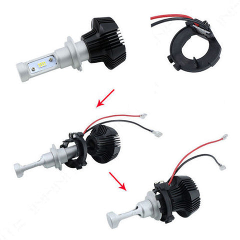 H7 LED Headlight Holder Adapter Conversion Kit for VW Golf MK7 MK6 Jetta