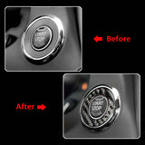 Carbon Fiber Style Engine Start Stop Push Button Ring Cover Ignition Switch Button Cap Trim for Infiniti Q50 Q60 2014-2019