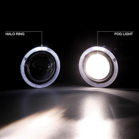LED Projector Lens Angel Eyes Halo Ring DRL Fog Light Kit for Honda Civic 2016-2018