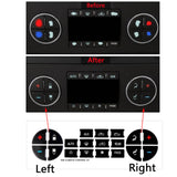 AC Dash Button Sticker Repair Kit - Radio AC Control Button Vinyl Overlay Decal Replacement for Chevrolet Silverado Tahoe Buick Enclave GMC Sierra Acadia 2007-2015 GM Vehicles