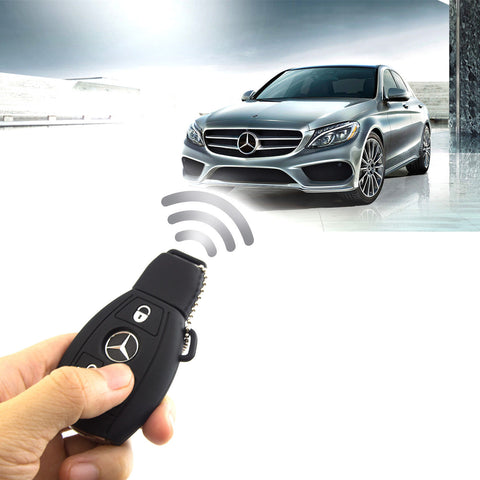 Black Soft Rubber Remote Smart Key Cover Holder Key Fob Shell Case for Mercedes C E R S M GLK CLA CLK CLS SLK